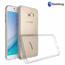 Shock Absorbent Scratch Proof Crystal Clear Back TPU Fusion Bumper Case for Samsung Galaxy C5 Pro