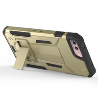 Metal printed armor covers for iPhone 7 plus rose gold case;metal kickstand case for iPhone 7 plus phone covers multi-function