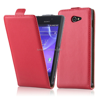 Leather Wallet PU Case Flip Cover Mobile Case For Sony Xperia M2