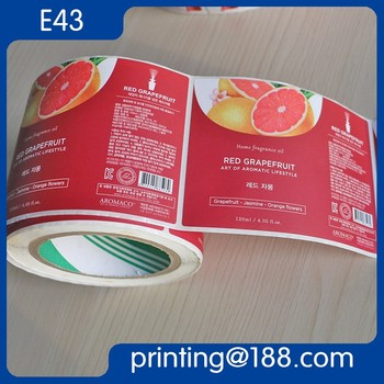 Custom Printed Roll Adhesive Paper Sticker