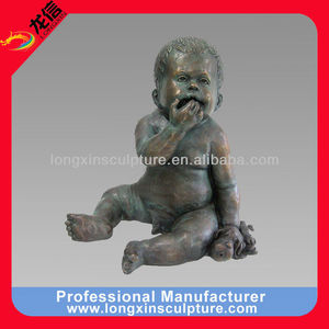 Garden Decoration Lovely Baby Bronze Sculpture for Sale