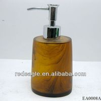 Wholesale gold resin bathroom sets combination soap lotion dispensers
