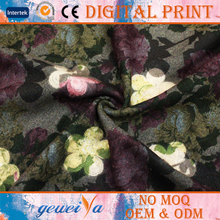High Quality Embroidered Custom Printed Wool Fabric