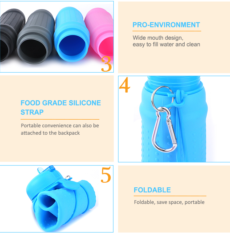 2017 Cute Private Label Flat Insulated Sports Water Bottle With Straw