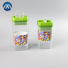 Wholesale Clear Plastic Jar Airtight Canister Food Storage Container