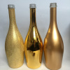 750ml electroplated gold champagne bottles