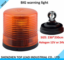 12/24v Halogen Rotating Big Warning Light/ Big Revolving Warning light with Rubber base