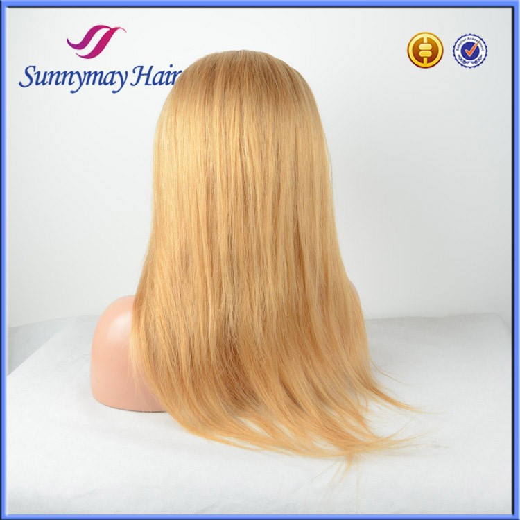 Stock #27 Honey Blonde Indian Remy Human Hair Cheap Glueless Full Lace Wigs
