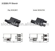 Stocket and plug ,TUV solar power MC3 PV Branch connector