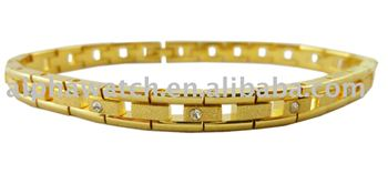 Gold coated bracelet