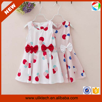 2015 new fashion girls kids wear lovely printed casual dress (Ulik-A0239)