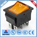 Hot-selling home appliance t85 electric switch yellow light rocker switch