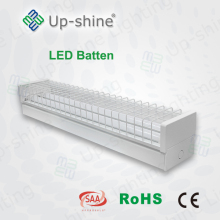 1.5m led tube light fixture 50w double T8 batten 1200mm led batten fitting with clear diffuser diffused linear light