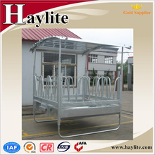 2015 hot dip galvanized horse hay round bale feeder with roof
