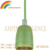 Hot selling E27 CE green color ceramic pendant lamp ceramic lamp holder