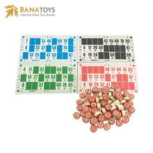 Educational double sides wooden bingo chess