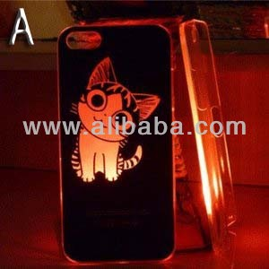 Smiling Deals Flash Light Case Cover for Apple iPhone 5 LED LCD Color Change