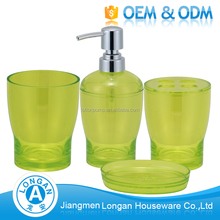 Wholesale newest Bathroom gift plastic accessory bath set