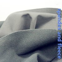 three one fabric the thick fabric of spandex composite fleece /softshell fabric