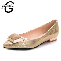 European Fashion Brand Upscale Elegant Serpentine Slip-on Flat Shoes Pointed Shoes