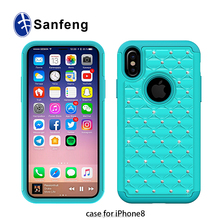 New Arrivals Cell Phone Back Cover Case for Iphone 8 Soft Silicone Protective Case