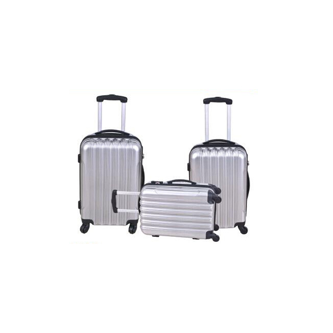 abs/pc material 3 pieces trendy luggage set