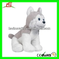 "LE h2063 cute NIC NAC 6"" pet baby husky puppy dog plush toy"