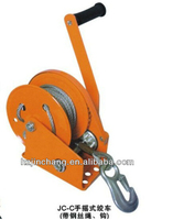2016 Newest CE Proved JC-C industrial hand winch with cable wire and hook