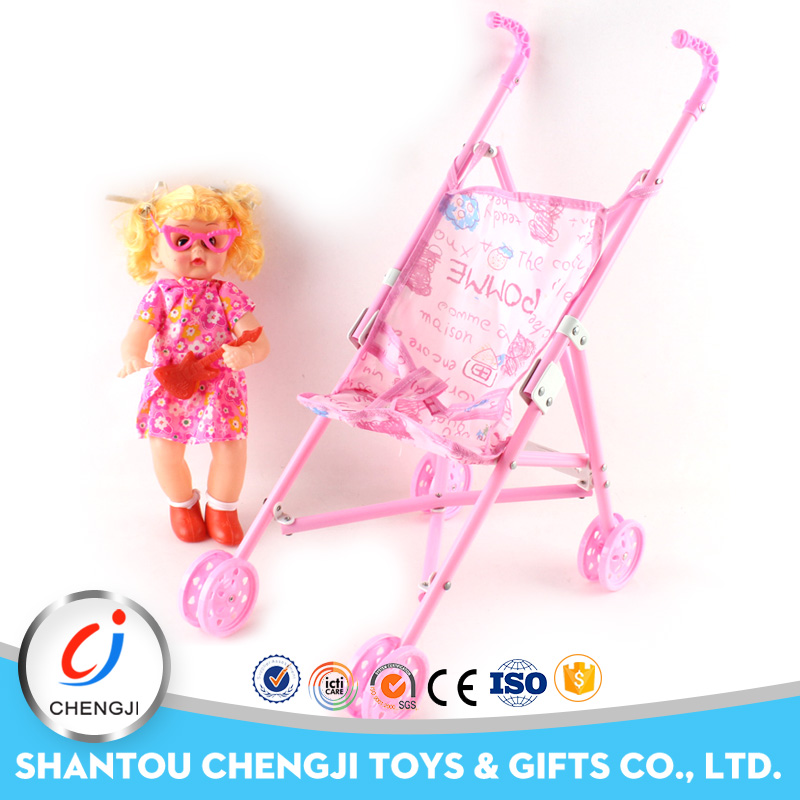 2016 Hot popular China wholesale baby doll with trolley