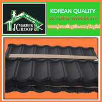 Colorful brand stone coated metal roofing tiles