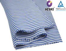 cotton blue -white yarn dyed stripe shirting poplin fabric compacted yarn