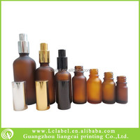 different capacity amber glass essential oil spray bottles