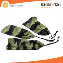 Camouflage printing soft microfiber fabric sunglasses pouch with string