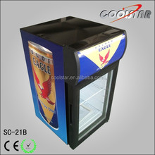 Small Capacity Beverage Merchandiser with Light Box