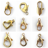 Different Designs Best Sell Jewelry Findings Lead Free Nickel Free Brass Lobster Clasp Wholesale