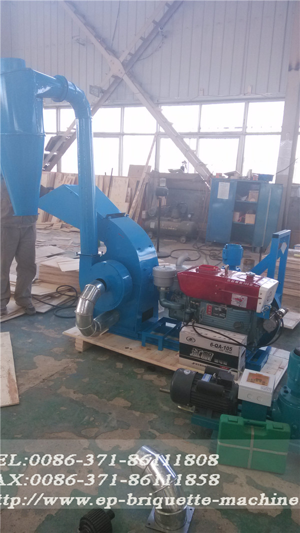 diesel engine hammer mill for rice husk , straw , stalks