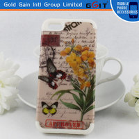 Beautiful 3D Butterfly And Flower Silicon+PC Case For Samsung S5360 For Galaxy Y Case Cover