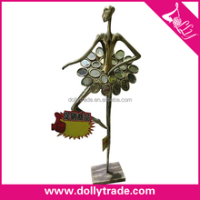Supply Elegant Art Deco Ballerina Sculpture,Metal Ballet Dancer Figurine Metal Sculpture Stands