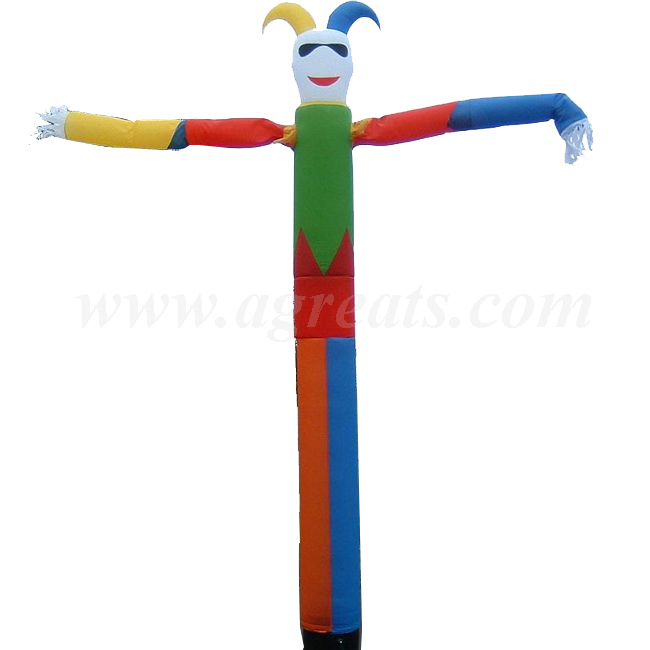 good price 5.5m high Jester air blower sky dancer,joker colorful sky dancer inflatable air man dancer for sale S4037