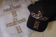 Acrylic Rhinestone Hotfix Motif for T-shirt
