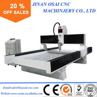 Chinese supplier stone cut machine three heads ATC stone engraving cnc router for sale