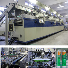 4 color full automatic silk screen printing machine for bottle with uv curing system
