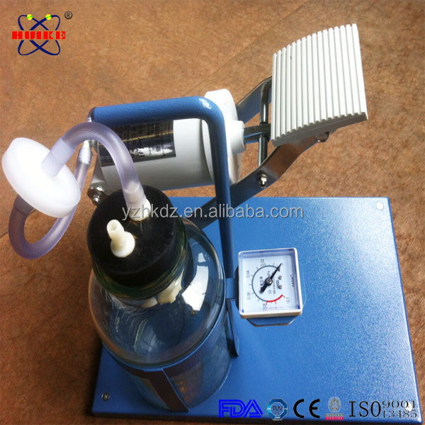 CE ISO approved manual and foot control negative pressure suction
