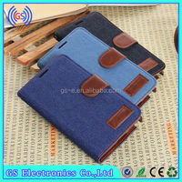 china wholesale denim wallet leather flip back cover for samsung galaxy s4 mini