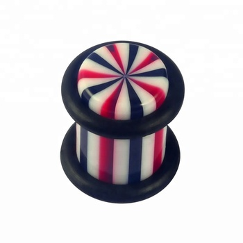 Factory price custom colorful acrylic ear plugs tunnel with 2 o-ring