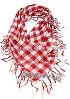 New 100% Cotton plaid scarf children