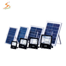 Alibaba hot sale rechargeable emergency slim solar led 10w 20w 30w 50w flood light with remote control
