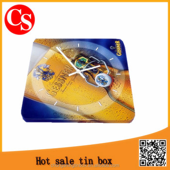 metal tin clock for promotional gift