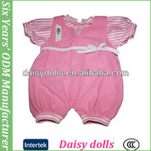 custom 16 inch pink romper baby doll outfit