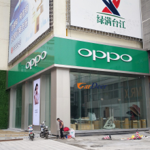 China hot high-end retail OPPO mobile phone store interior design for display experience
